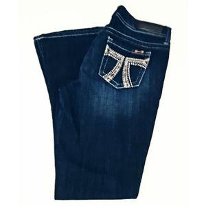 Seven7 Jeans Size 10 Rocker Slim Embellished